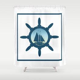 Sailing scene Shower Curtain