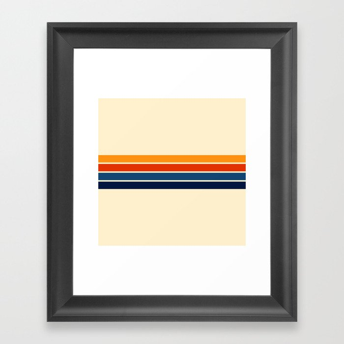Classic Retro Stripes Gerahmter Kunstdruck