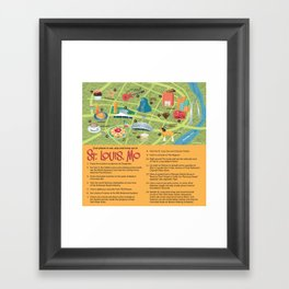 Square Map of St. Louis Framed Art Print
