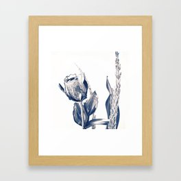 Glass rose Framed Art Print
