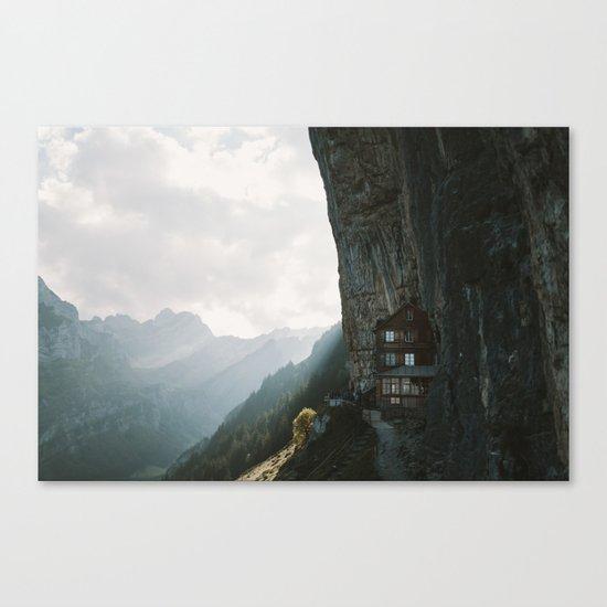 Mountain Cabin - Landscape Photography Canvas Print