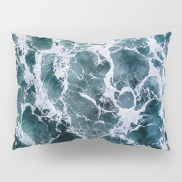 Minimalistic Veins in a Wave  - Seascape Photography Pillow Sham