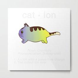 Biology Anime Cat Ion Kitty Kitten Chemistry Gift Metal Print