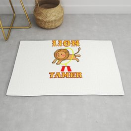 Lion Tamer For Circus Lover Rug