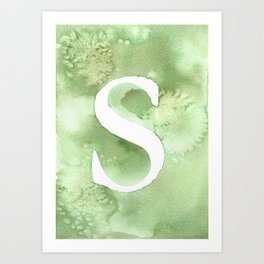 s watercolor Art Print