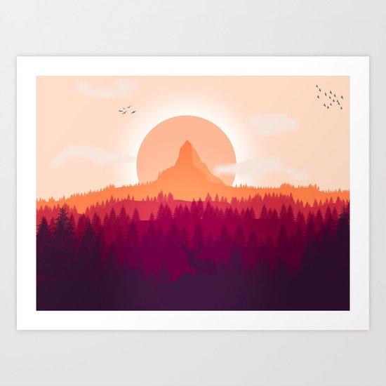 Wildlife Forest Art Print