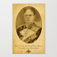dwight Canvas Prints featuring Kaiser Dwight by ThePencilClub