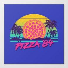 Pizza '84 Canvas Print