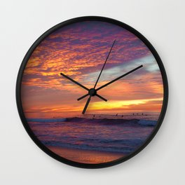 Pink Sunset Wall Clock