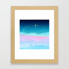 Not on earth anymore Framed Art Print