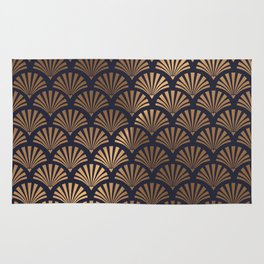 Art Deco Shell Pattern Rug