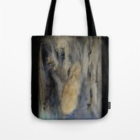 mermaids Tote Bags featuring mermaids by Imagery by dianna