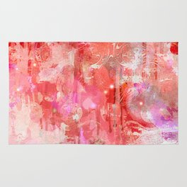 Modern contemporary pastel Blush and Peaches Abstract Rug