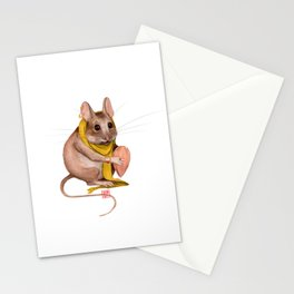 Deer mouse with a nut Stationery Cards