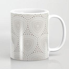Taupe Textured Pattern Design Coffee Mug