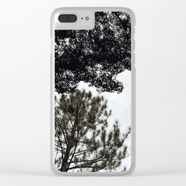 Tree Silhouette Clear iPhone Case