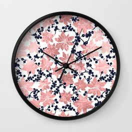 Plants pattern Wall Clock