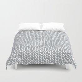 Hand Knit Light Grey Duvet Cover