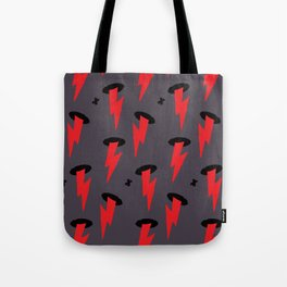 Red Boltz Tote Bag