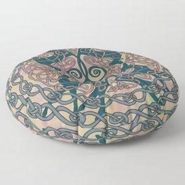 Art Nouveau Greyhound Celtic Knotwork Floor Pillow
