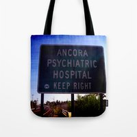 psych Tote Bags featuring Ancora Psych by Groovyal