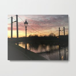 Exeter Quay Sunset Metal Print
