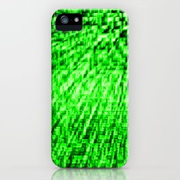 Green Pixel Wind iPhone Case