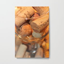 Glass Half Full Metal Print