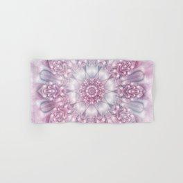 Dreams Mandala in Pink, Grey, Purple and White Hand & Bath Towel