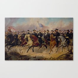 Grant and His Generals Painting Canvas Print
