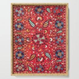 Lakai Suzani Samarkand Uzbekistan Embroidery Print Serving Tray