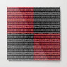 Presence of Anger in Red, Black, and Grey Metal Print