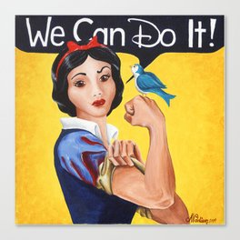 Rosie the Riveter, We Can Do It Canvas Print