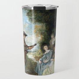 Antoine Watteau The Love Lesson Travel Mug