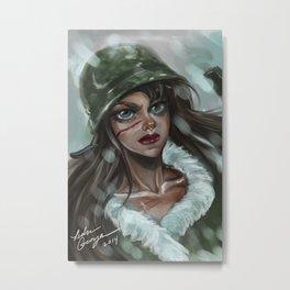 Winter Soldier Metal Print