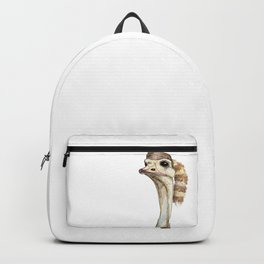 Ostrich in a Coonskin Hat Backpack