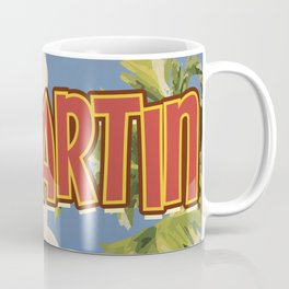 St Martin vintage vacation travel poster Coffee Mug