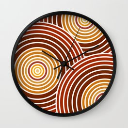 Psychedelic Circles Wall Clock