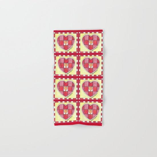 Pinstripe Heart Hand & Bath Towel