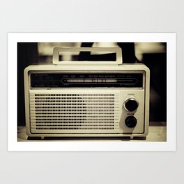 "on the radio... ""ANALOG zine""  Art Print"