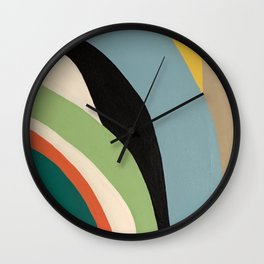 Colorful Stripe Painting by Christie Olstad Wall Clock