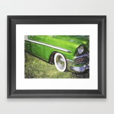 Green Speed Framed Art Print