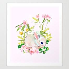 springtime bunny Art Print