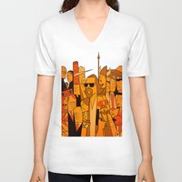 big lebowski V-neck T-shirts featuring The Big Lebowski by Ale Giorgini