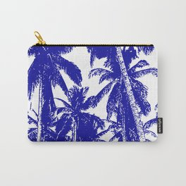 Palm Trees Design in Blue and White Carry-All Pouch