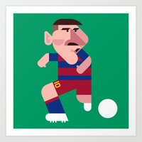 LM10 Mini | Blaugrana Art Print