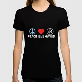 Peace Love Krav Maga - Funny Israeli Martial Art T-shirt