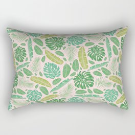Tropical leaves mix on light background Rectangular Pillow