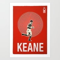 Nottingham Forest Legends Series: Roy Keane Graphic Poster Art Print
