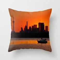 Sunset Sail Ashbridges Bay Toronto Canada Throw Pillow